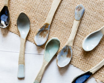 Handmade Ceramic Teaspoons - Set of Spoons - Made to Order