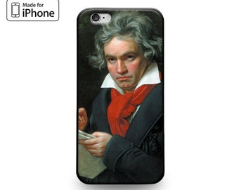 Classical Music Lover Composer Ludwig Van Beethoven Portrait Rubber Case for iPhone 6s 6 Plus SE 5s 5 5c