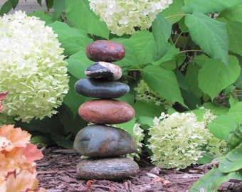 Cairns Customized Garden Art, Deck Art, Stone Stack, Rock Pillar Smaller Size