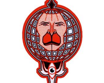 Hanuman Art Fridge Magnet- Monkey-Indian God-Home decor Indian Art- Magnets-Refrigerator Magnet-Art Magnet-Psychedelic Pin-Ape-Art Gift