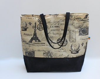 Waxed Canvas Tote - Gift for Her - Oversize Waxed Canvas Bag - Large Waxed Canvas Purse - Waxed Canvas Bag - Waxed Canvas Diaper Bag