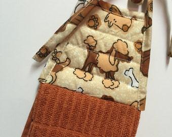 Poodle Dog Kitchen Towel,Poodle Hand Towel, Dog Towel,Cinnamon Towel, dog lover,poodle collector,dog hanging towel,teacher gift,Hostess Gift