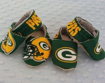 NFL Greenbay Packers Soft Soled Baby Shoes