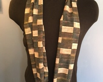 Nelsonville Block Infinity Scarf