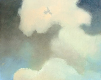 Sky and Clouds. Cloudscape. Skyscape. Modern painting. Oil on Gallery Wrap Canvas. Large - 36x24