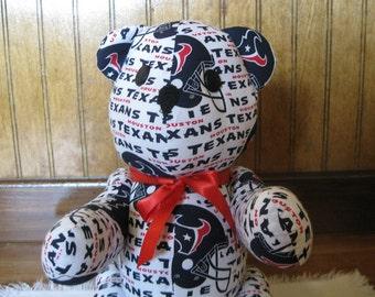 Houston Texans Bear - nfl bear stuffed bear football bear handmade bear custom bear nfl teddy bear