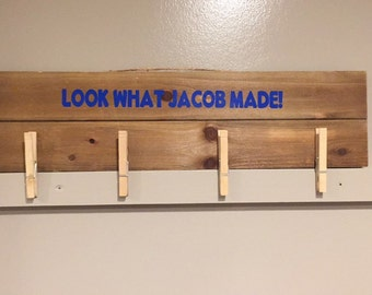 Look What Your Child Made, Custom Sign