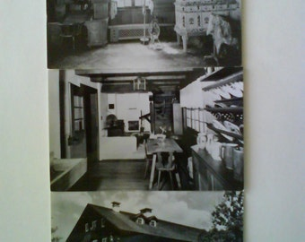 Black and White Waelderhaus postcards free shipping USA