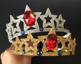 Wonder Woman Headband,Wonder Woman Crown,Wonder Woman tiara,Wonder Woman accessory,Wonder Woman costume,party favor,Super Hero headband,