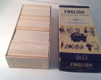 Vis Ed flash cards antique English vocabulary cards