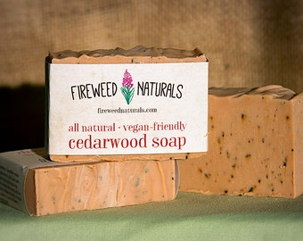 Cedarwood Soap Bar - Vegan Friendly, All Natural, Cold Process