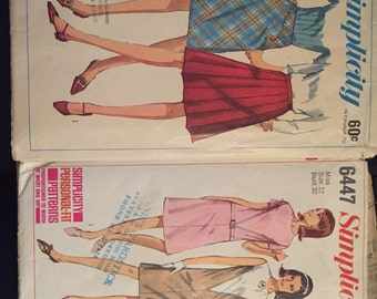 1966 2 Packages of Patterns - Skirts, Dresses - Simplicity