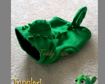 Small Dog Clothes Rapunzel friend Pascal Costume Halloween Chameleon outfit Puppy Clothes Chihuahua Coat Yorkie Jumper
