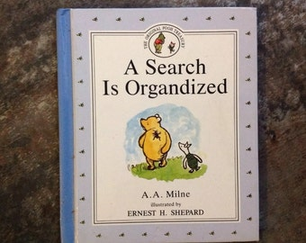 "Vintage Children's Book ""A Search Is Organdized"" Winnie Pooh Milne Shepard 1992 Dutton The Original Pooh Treasury Hardcover Storybook"