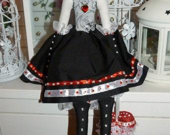 Tilde handmade doll Queen of hearts