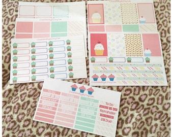 Happy planner cupcake theme set