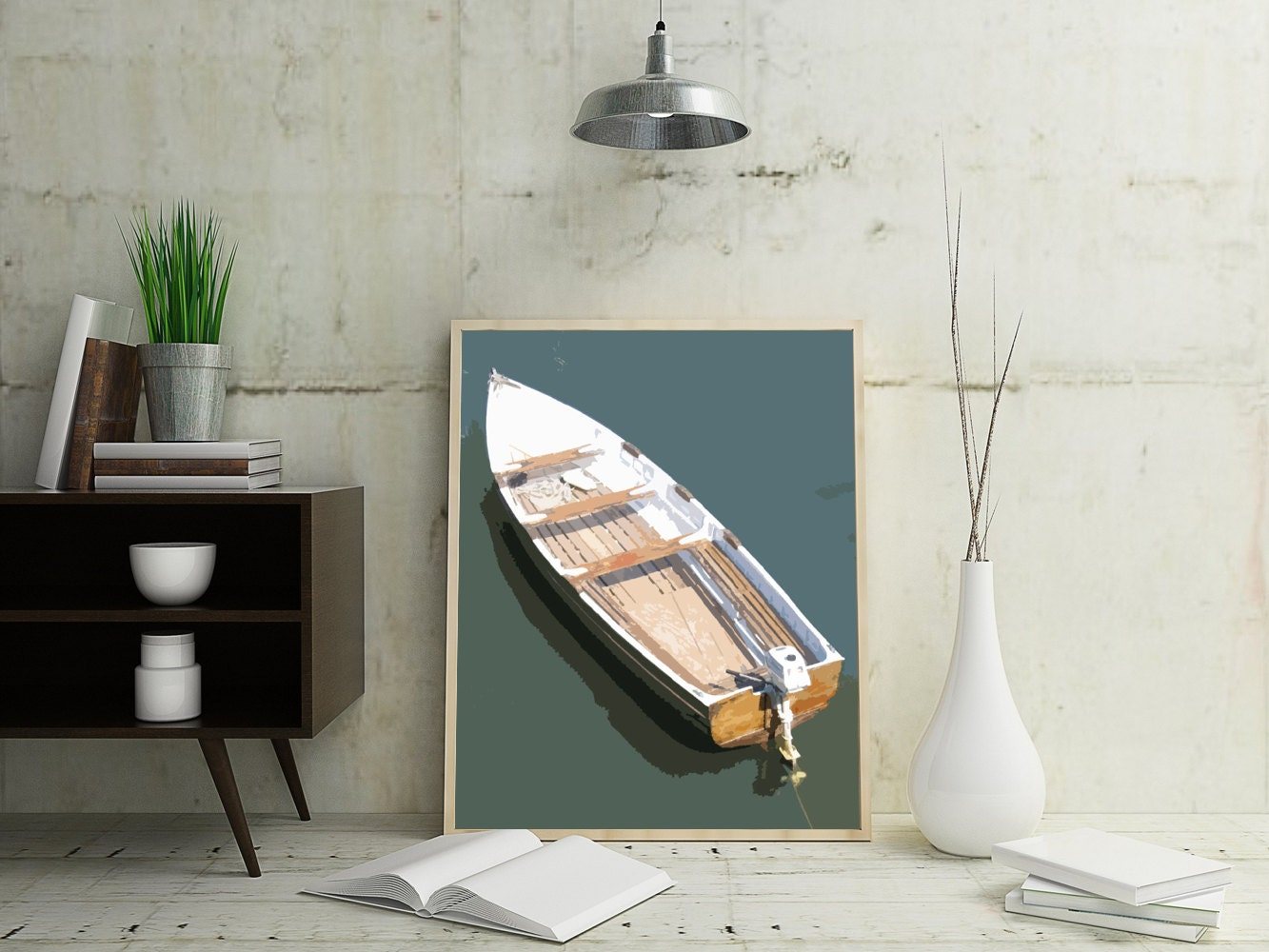 Boat wall print boat art nautical wall decor nautical by for Where can i buy nautical decor