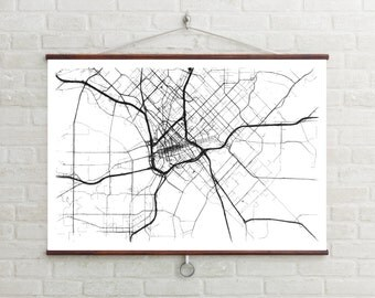Map of Dallas, Dallas, Dallas art, Dallas map, Dallas print, Dallas decor, Dallas gift, Dallas art map, Dallas poster, Wedding Gift