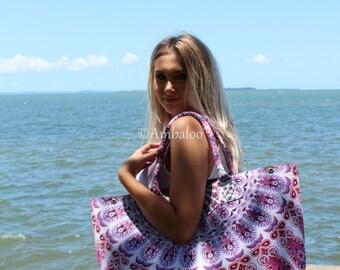 large bohemian beach bag