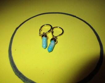 Sky Blue hoop and dangle earrings
