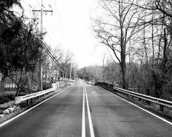 LONG ROAD landscape photography black and white