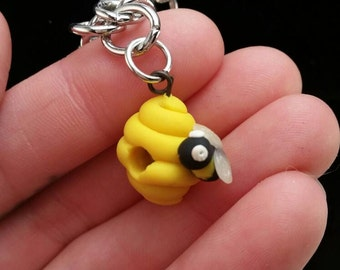 Bumble bee, hive, cute, charm, with bracelet