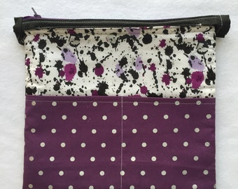 Planner Carryall Bag (Black/Purple/Silver)