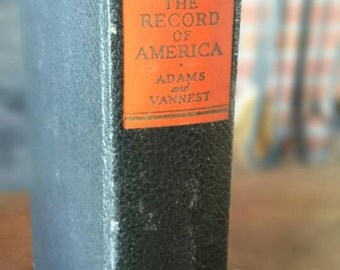 The Record of America 1938 Adams and Vannest