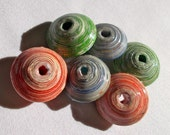Jumbo Ayanda Collection Mix - Recycled Paper Beads - Fair Trade from Mzuribeads Uganda - Pack of 6 Beads  Size 3cm approx