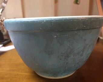 Vintage Blue Color, Pyrex #401 A-54, Mixing Bowl
