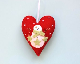 Christmas Ornament - Holiday Ornament - Christmas Home Decor - Snowman Ornament - Stocking Stuffers - Christmas in July - Gifts Under 20