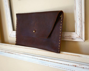 Handmade Leather Clutch