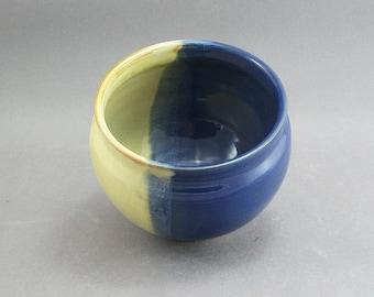 Pottery Small Bowl Yellow Salt & Aegean Blue FF14