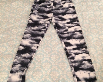 Cloud Print Sky Leggings