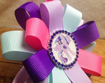 Twilight Sparkle Inspired Hair Bow
