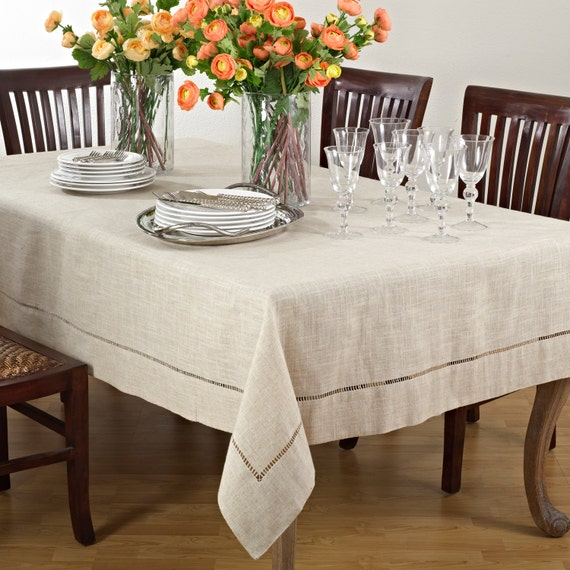 Natural Tablecloth Polyester Tablecloth Linen Tablecloth