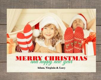 Christmas Photo Card,  Christmas Card, Holiday Card, Holiday Photo Card, Custom Holiday Greeting Card