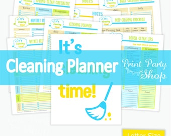 Cleaning Planner / Cleaning Checklist / Printable  File ON SALE