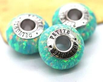 Opal Jewelry Supplies,Opal Charm,Bracelet Charms,Opal Bracelet Charms,Opal Pendent,Mint Opal Bead,Jewelry Making Supplies,Opal Mint Charms