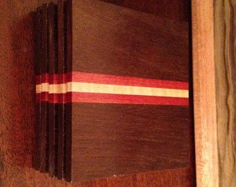 Handmade Exotic Wood Coaster Set
