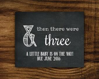 Amanda - Printable June 2016 Pregnancy Announcement