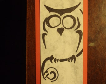 Perched Owl Bookmark