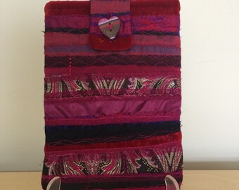 Textile iPad and Kindle Sleeve in Pink.