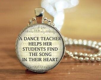 Dance Teacher, Dance Pendant, Dance, Dance Teacher Keychain, Dance Teacher Gift, Dance Necklace, Dance Jewelry, Dance Teacher Jewelry