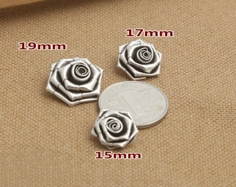 Rose Charms Antique Bali Sterling Silve Charms Pewter Silver Jewelry Accessories S545