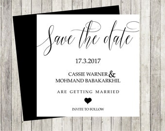 Save the date Cards ready to personalise