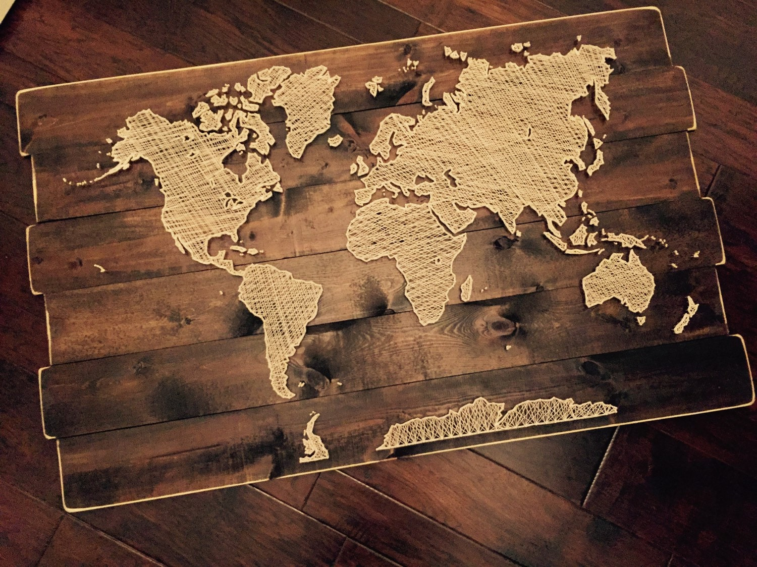 world map string art. Black Bedroom Furniture Sets. Home Design Ideas