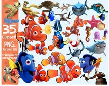 Finding Nemo Clipart  transparent background  png format files