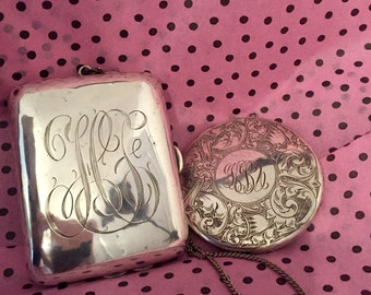 Antique Sterling Silver Purse and Compact