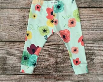 Baby/ Toddler/ Kids Leggings/ Light Blue Floral Leggings
